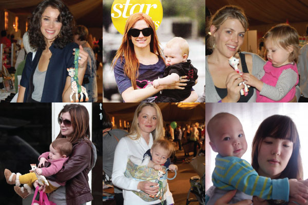 Sophie la girafe with Celebrities